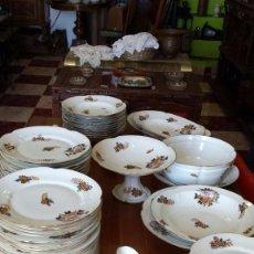 Antigüedades: ANTIGUA VAJILLA DE LIMOGES, PRECIOSA, 66 PIEZAS. Lote 77742033
