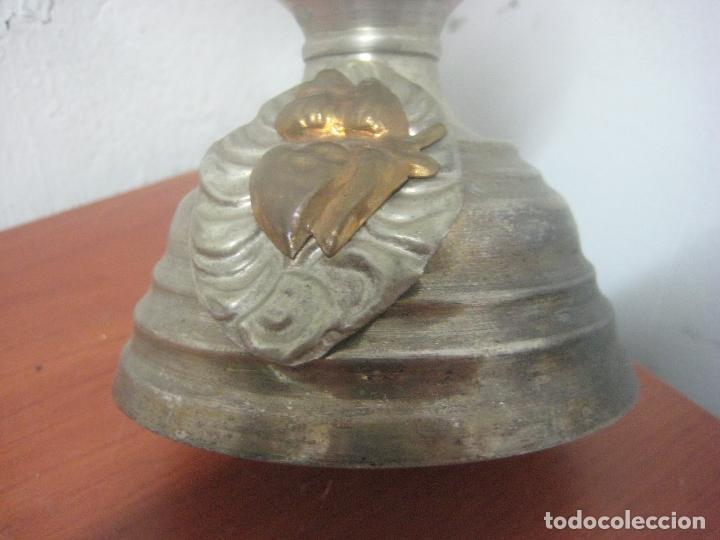 Antigüedades: BONITO CRUCIFIJO MODERNISTA HECHO COMPLETO EN ALPACA Y COBRE LABRADO 41 CMS, DATA DE 1900 - Foto 11 - 77809809