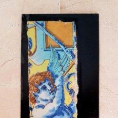 Antigüedades: PRECIOSA PAREJA DE AZULEJOS FRAGMENTADA EN CERAMICA DE TRIANA,(SEVILLA),S. XIX. Lote 77844829