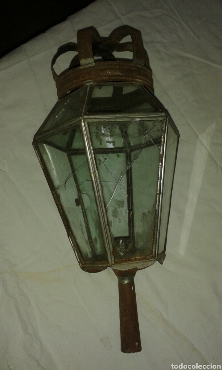 FAROL ANTIGUO DE PENITENTE (Antigüedades - Iluminación - Faroles Antiguos)