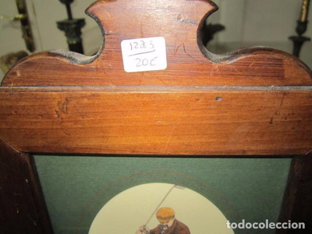 marco de madera con lámina de golifista antiguo - Comprar en ...