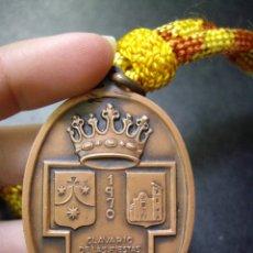 Antigüedades: PRECIOSA MEDALLA DE COBRE - CLAVARIO FIESTAS VIRGEN DEL CARMEN DE LA ELIANA - VALENCIA - 1970. Lote 99512471