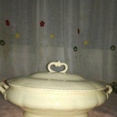 Antigüedades: SOPERA DE LOZA CHINA OPACA. Lote 77922358