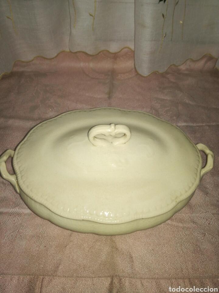 Antigüedades: Sopera de loza china opaca - Foto 2 - 77922358