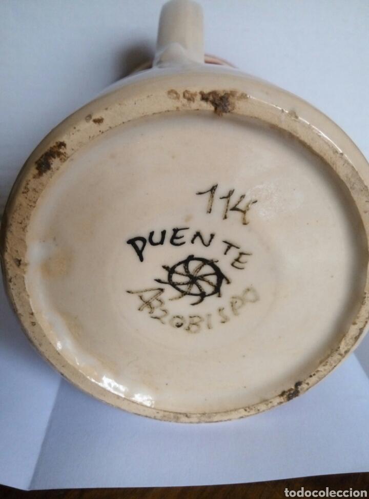 Antigüedades: Jarra ceramica. Puente Arzobispo - Foto 6 - 77968346