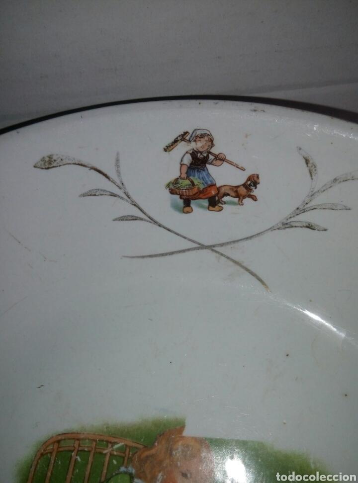 Antigüedades: Fuente plato porcelana San Claudio Oviedo. Años 30 infantil - Foto 3 - 77975110