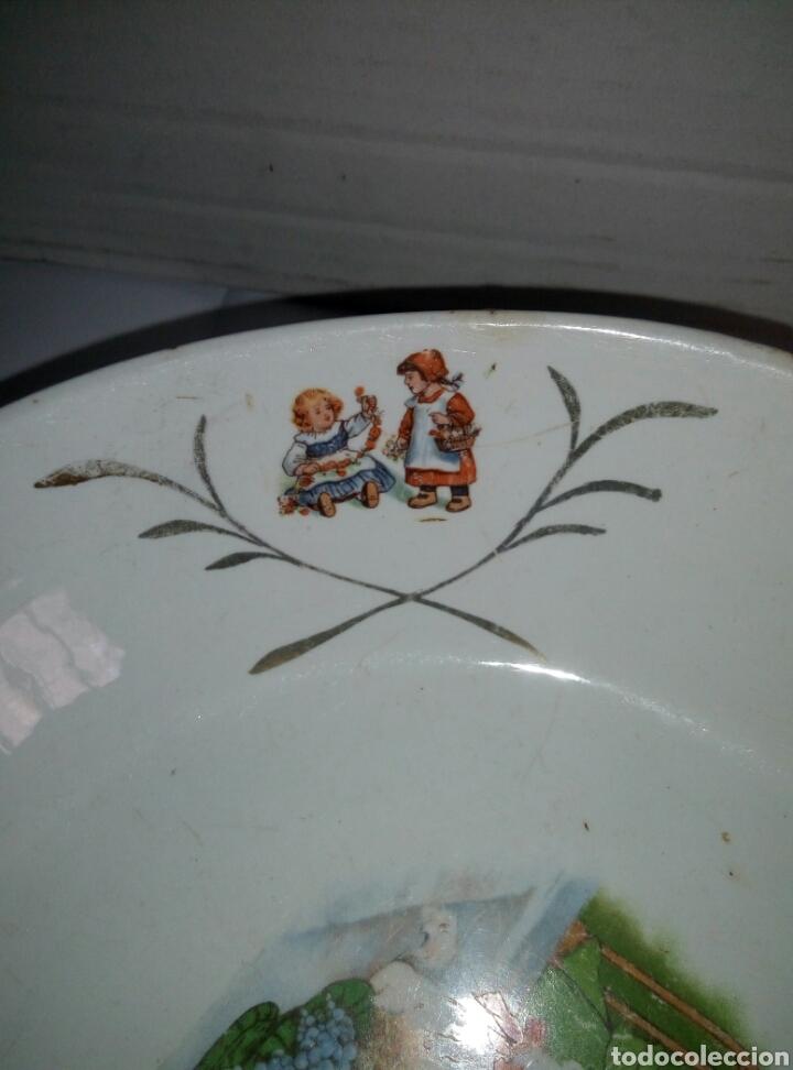 Antigüedades: Fuente plato porcelana San Claudio Oviedo. Años 30 infantil - Foto 4 - 77975110