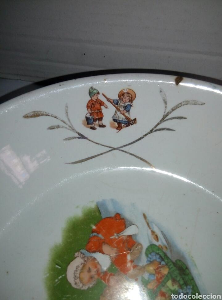Antigüedades: Fuente plato porcelana San Claudio Oviedo. Años 30 infantil - Foto 5 - 77975110