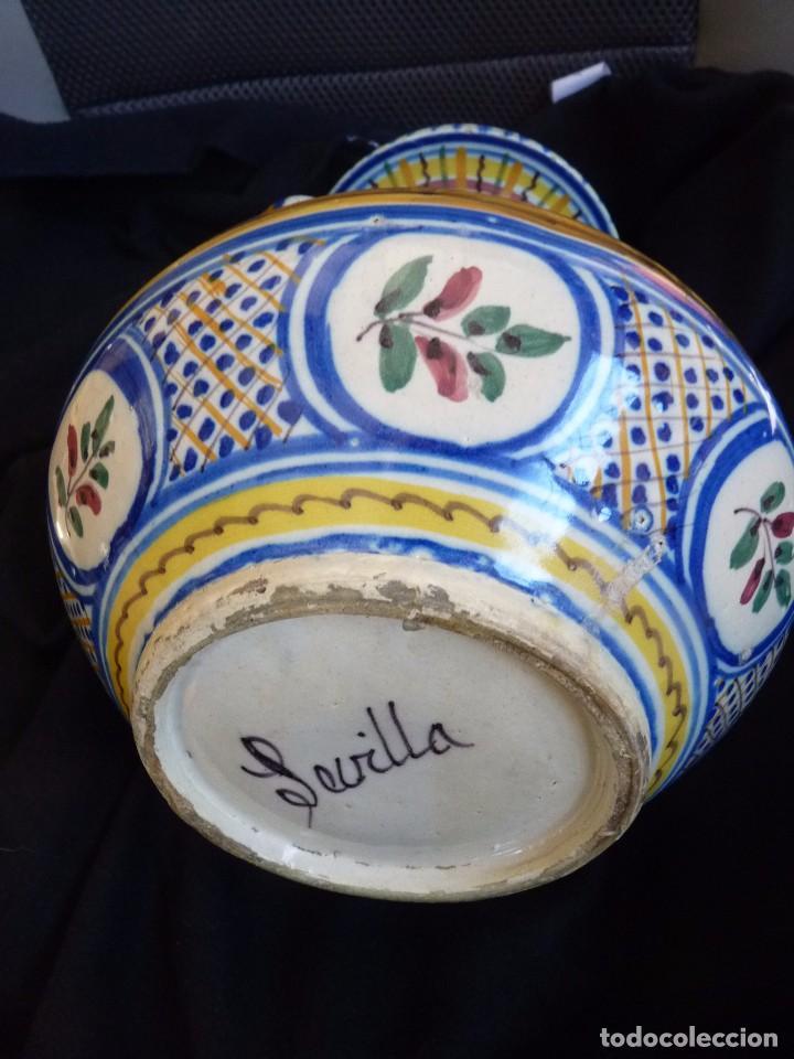 Antigüedades: EXCLUSIVA JARRA CERÁMICA DE TRIANA SIGLO XIX - Foto 5 - 77981653