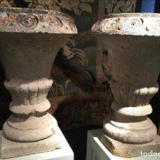 Antigüedades: COPAS DE JARDÍN EN PIEDRA. Lote 78001053