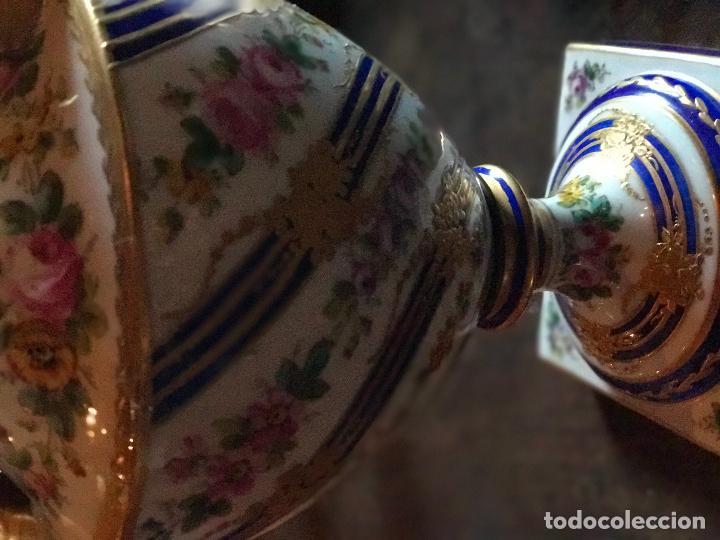 Antigüedades: Jarrón meissen antiguo con sellos - Foto 4 - 78068485