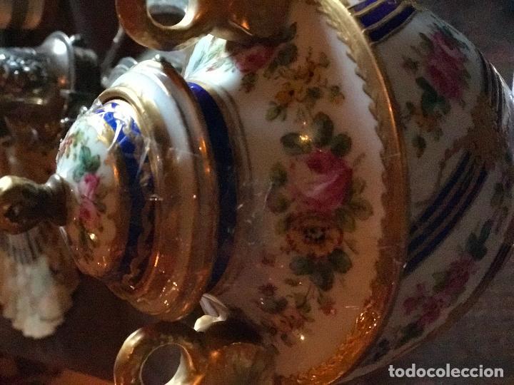 Antigüedades: Jarrón meissen antiguo con sellos - Foto 5 - 78068485