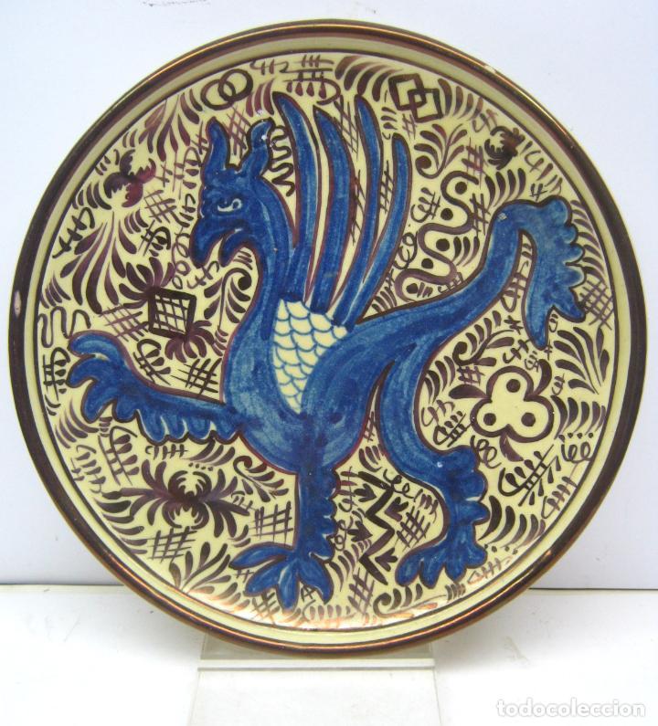 BELLO PLATO MANISES REFLEJOS 26 CM (Antigüedades - Porcelanas y Cerámicas - Manises)