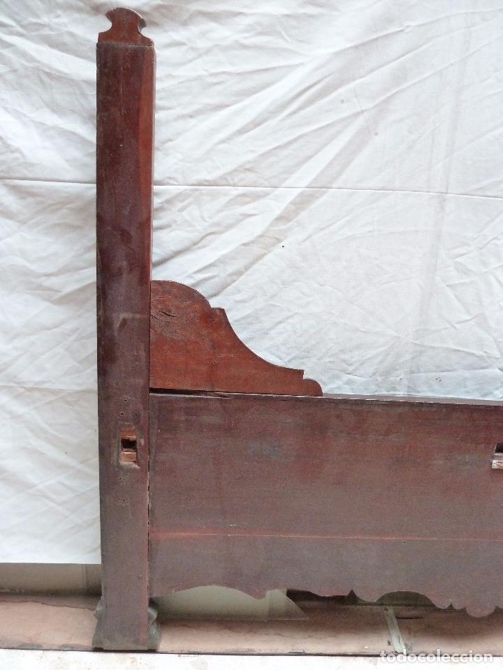 Antigüedades: CAMA ISABELINA DE CAOBA CON COPETE - DITADA - CABECERO Y PIECERO - ANCHO 150 CM - Foto 6 - 78153221