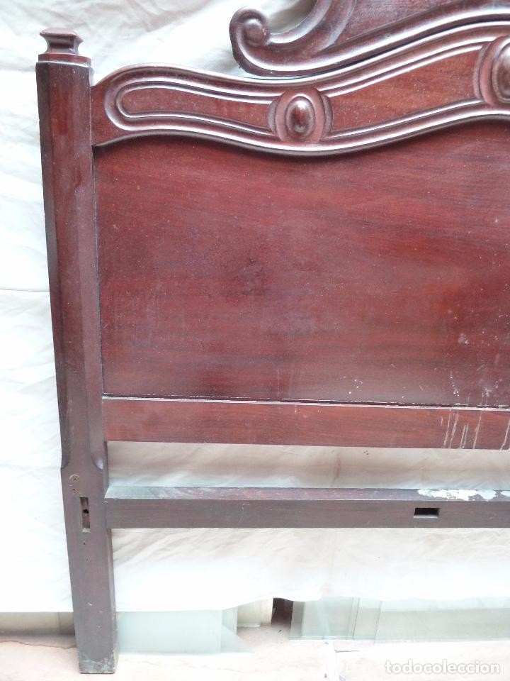Antigüedades: CAMA ISABELINA DE CAOBA CON COPETE - DITADA - CABECERO Y PIECERO - ANCHO 150 CM - Foto 10 - 78153221