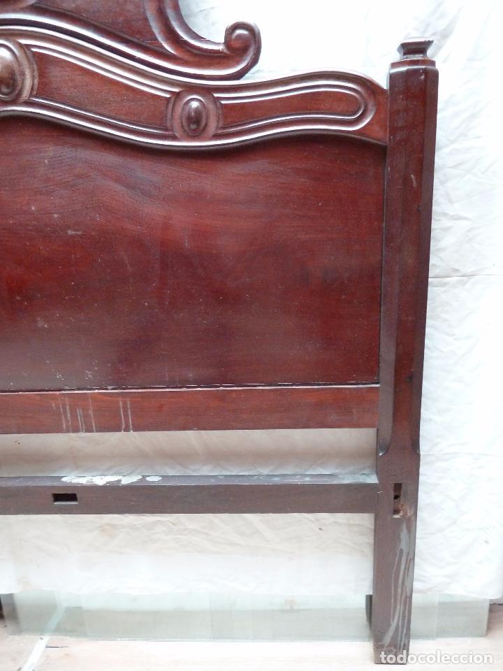 Antigüedades: CAMA ISABELINA DE CAOBA CON COPETE - DITADA - CABECERO Y PIECERO - ANCHO 150 CM - Foto 11 - 78153221