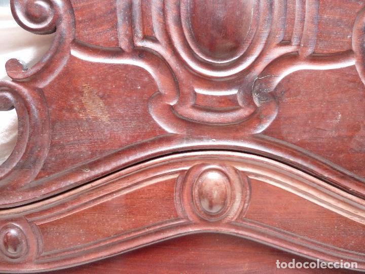 Antigüedades: CAMA ISABELINA DE CAOBA CON COPETE - DITADA - CABECERO Y PIECERO - ANCHO 150 CM - Foto 12 - 78153221