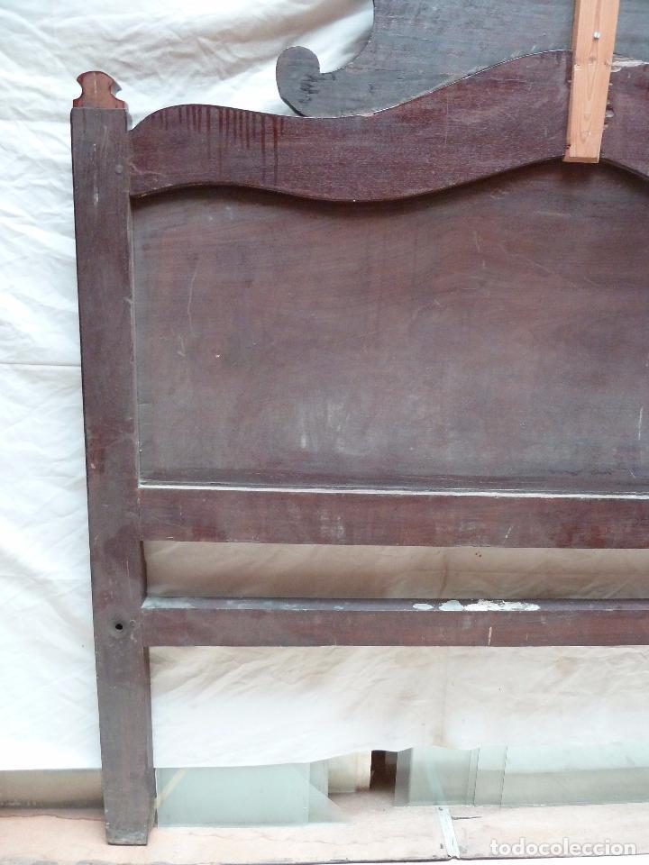 Antigüedades: CAMA ISABELINA DE CAOBA CON COPETE - DITADA - CABECERO Y PIECERO - ANCHO 150 CM - Foto 14 - 78153221