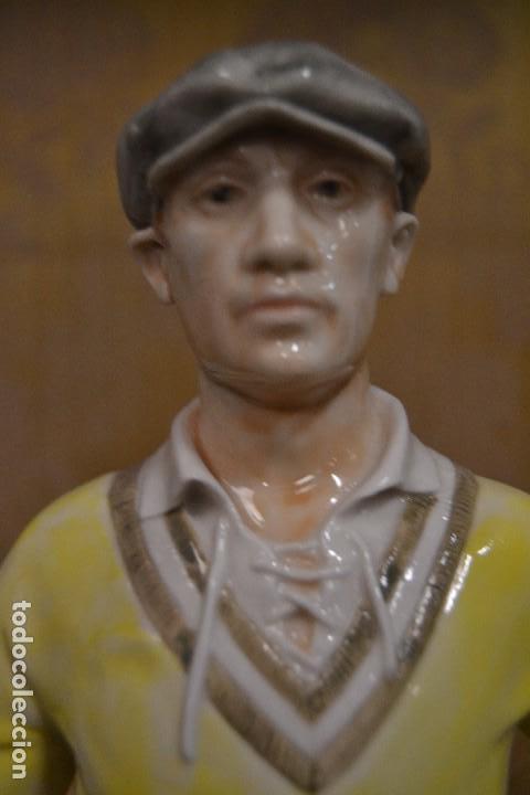 Antigüedades: figura porcelana algora portero fútbol años 20 - Foto 3 - 78162185