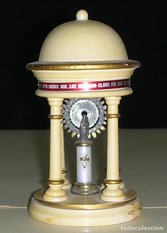 CAPILLA DE MADERA CON LA VIRGEN DEL PILAR, ZARAGOZA (Antigüedades - Religiosas - Varios)