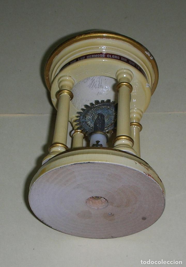 Antigüedades: CAPILLA DE MADERA CON LA VIRGEN DEL PILAR, ZARAGOZA - Foto 3 - 78170077