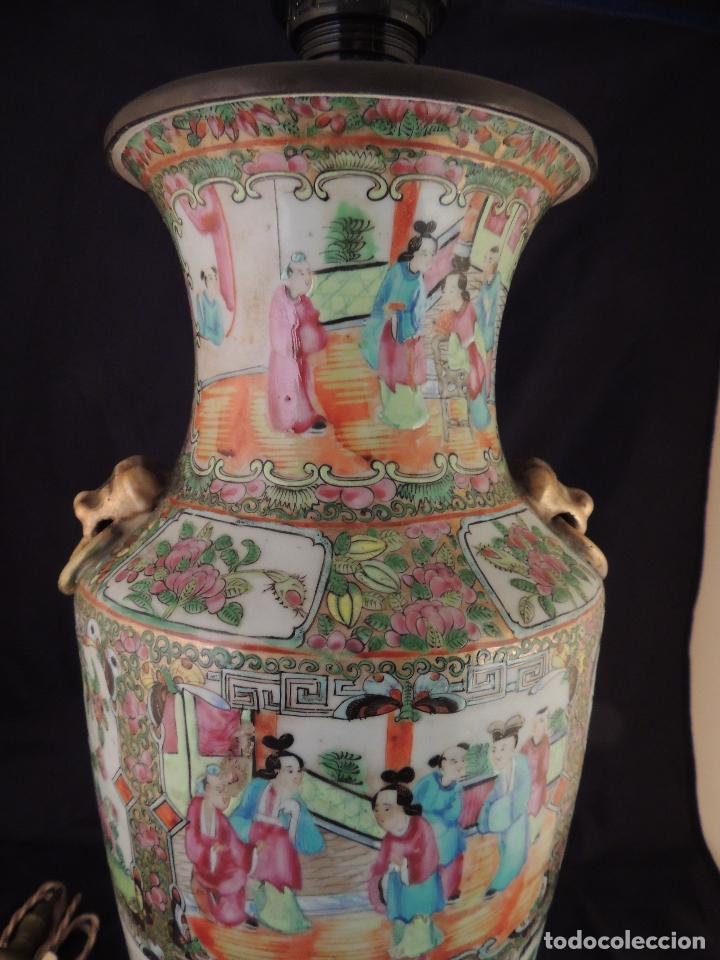 Antigüedades: MAGNIFICO JARRON LAMPARA PORCELANA CANTON SIGLO XVIII - Foto 9 - 78185489