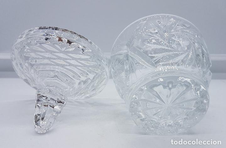 Antigüedades: Bombonera antigua en cristal inglesa con bellos motivos - Foto 2 - 78214109