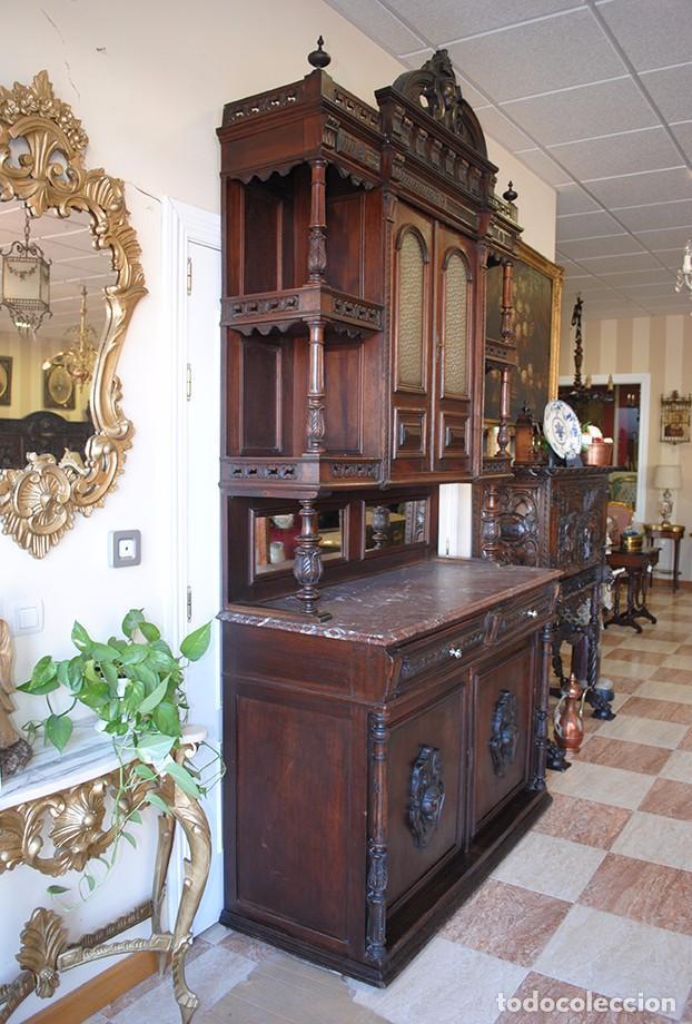 Antigüedades: TRINCHERO APARADOR ANTIGUO ALFONSINO - Foto 7 - 78249277