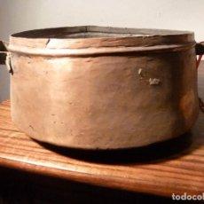 Antigüedades: ANTIGUO CUENCO , CUBO, CALDERA,POZAL,CALDERO,OLLA DE COBRE 39. Lote 78263125