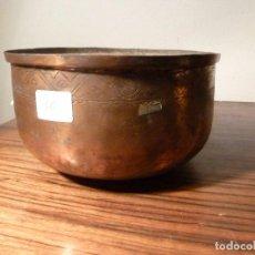 Antigüedades: ANTIGUO CUENCO , CUBO, CALDERA,POZAL,CALDERO,OLLA DE COBRE 36. Lote 78264721
