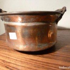 Antigüedades: ANTIGUO CUENCO , CUBO, CALDERA,POZAL,CALDERO,OLLA DE COBRE 27. Lote 78266125