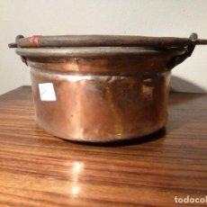 Antigüedades: ANTIGUO CUENCO , CUBO, CALDERA,POZAL,CALDERO,OLLA DE COBRE 26. Lote 78266229