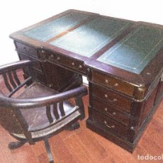Antigüedades: CONJUNTO DE MOBILIARIO DE DESPACHO ANTIGUO.. Lote 78319205