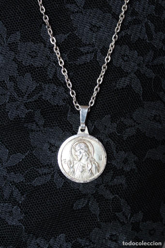 afbcb675220 Antigüedades medalla escapulario sagrado corazÓn de jesÚs virgen del carmen  en plata foto jpg 682x1024 Escapulario