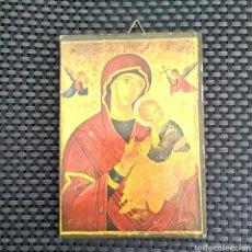 Antigüedades: ICONO RELIGIOSO / PAPEL SOBRE MADER. Lote 78332537