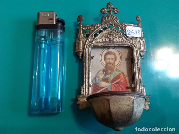 ANTIGUA BENDITERA DE SAN JOSE (Antigüedades - Religiosas - Benditeras)