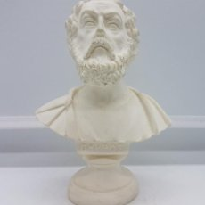 Antigüedades: BUSTO ANTIGUO DE OMHPOE (HOMERO) HECHO A MANO EN GRECIA. Lote 78372377