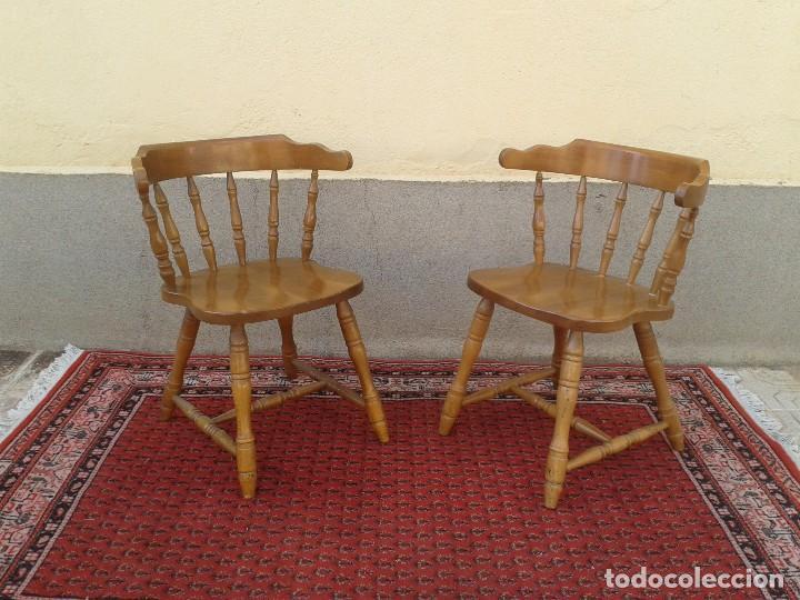 Pareja de sillas r sticas sillas antiguas sil comprar sillas antiguas en todocoleccion - Sillas rusticas ...