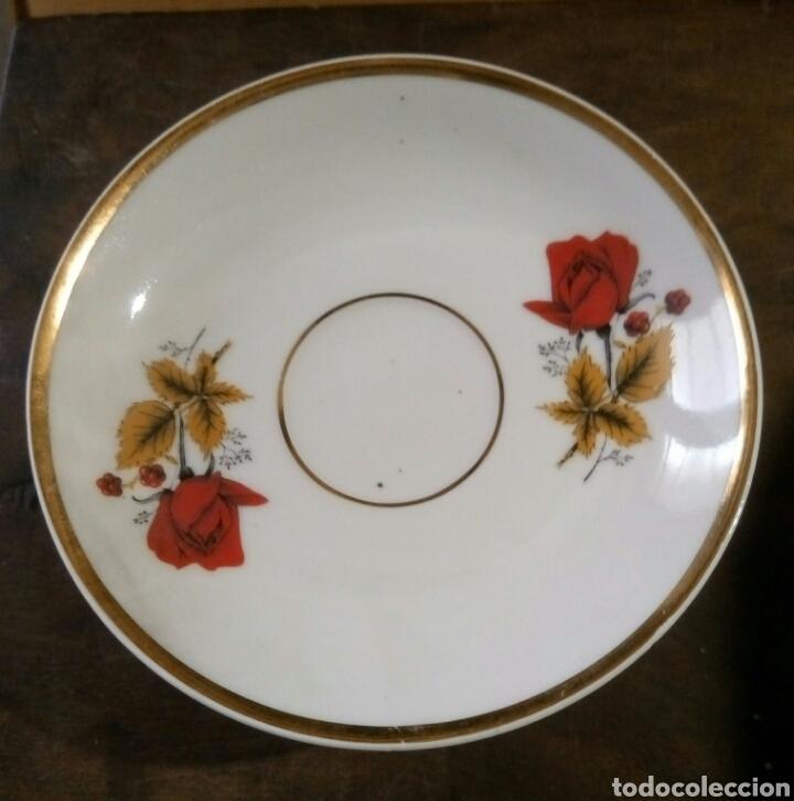 LOTE 5 PLATOS CAFE PORCELANA (Antigüedades - Porcelanas y Cerámicas - Otras)