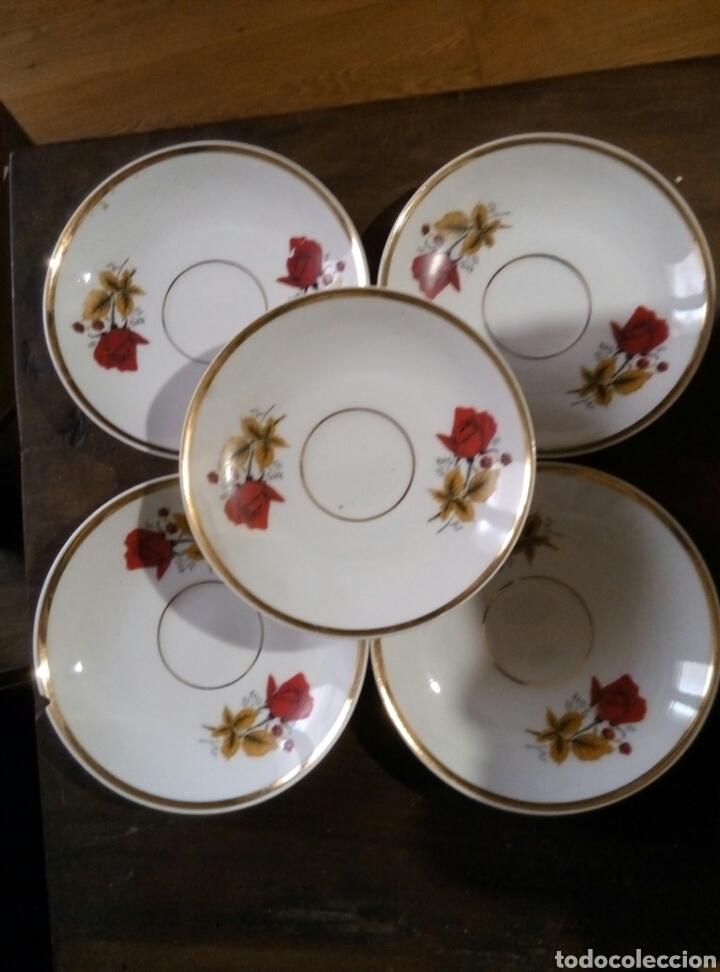 Antigüedades: Lote 5 platos cafe porcelana - Foto 2 - 78388387
