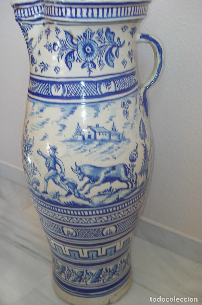 Antigüedades: GRAN JARRON EN CERAMICA DE TRIANA S.XIX - Foto 2 - 78418681