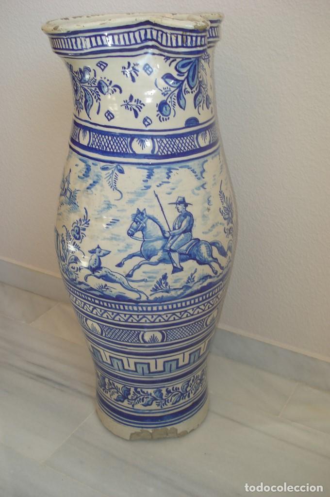 Antigüedades: GRAN JARRON EN CERAMICA DE TRIANA S.XIX - Foto 3 - 78418681