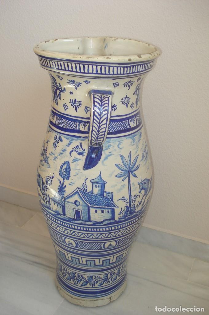 Antigüedades: GRAN JARRON EN CERAMICA DE TRIANA S.XIX - Foto 4 - 78418681