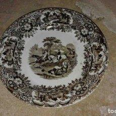 Antigüedades: PLATO PICKMAN S. XIX CABALLOS AL GALOPE. Lote 78445413