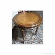 Antigüedades: VELADOR CEREZO PIEL FORJA MEDIDAS 65 X 61. Lote 78458017
