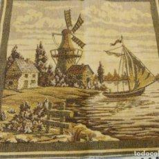 Antigüedades: TAPIZ EN BUEN ESTADO, IMAGENES HOLANDESAS. Lote 78504541