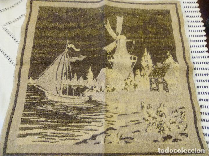 Antigüedades: TAPIZ EN BUEN ESTADO, IMAGENES HOLANDESAS - Foto 3 - 78504541
