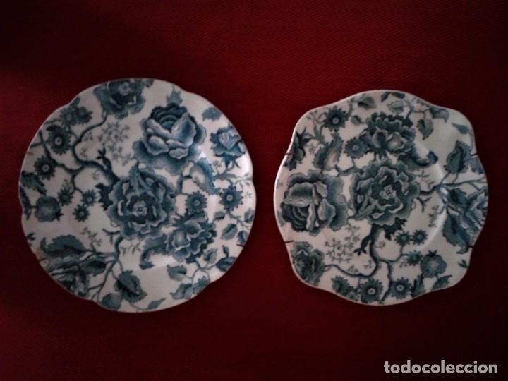 DOS PLATOS INGLESES ANTIGUOS ,MARCA ENGLISH CHIPPENDALE ,TRAÍDO DE INGLATERRA (Antigüedades - Hogar y Decoración - Platos Antiguos)