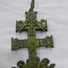Antigüedades: ANTIGUA Y EXCEPCIONAL GRAN CRUZ DE CARAVACA-BRONCE-EXQUISITO CINCELADO-ORIGINAL S. XVII - XVIII. Lote 78653557