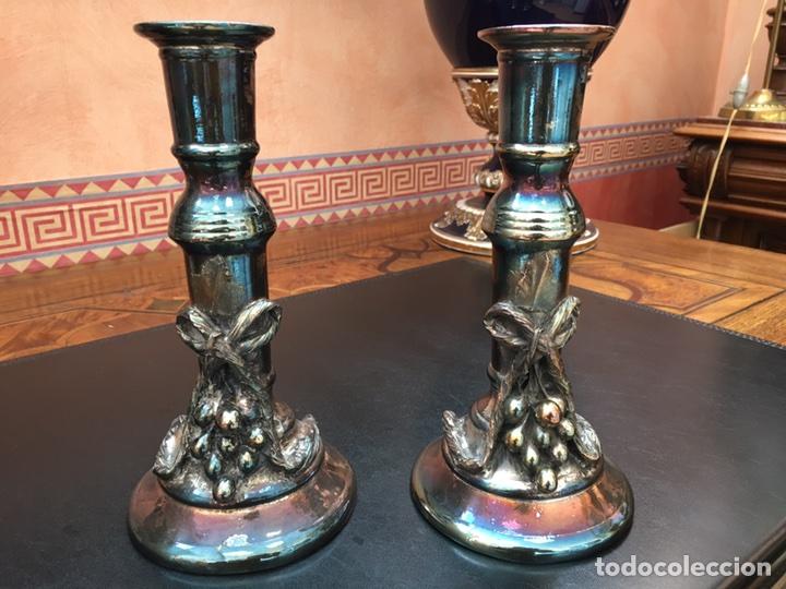 Antigüedades: Candelabros-plata-decoracion-frutal - Foto 2 - 54771162